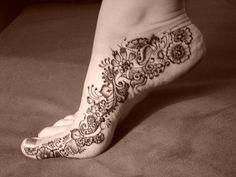 paisley foot tattoo - Google Search