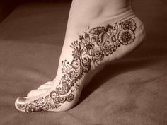 paisley foot tattoo - Google Search