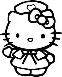 Hello Kitty Nurse Coloring Pages