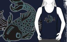Cute Summer Tank Top! koi fish, lucky koi, good luck, summer clothes