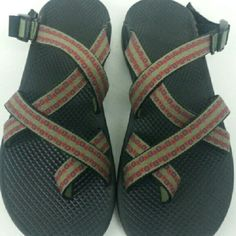 Chacos Chacos slides green with pattern either side.  Pre-owned. Chacos Shoes Sandals