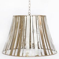 This silver leaf pendant is just beautiful. I keep staring at it, wondering where I could use it in my house. I love the vertical stripes that make up the $812