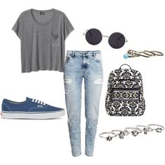 Untitled #90 by gregoryhouse on Polyvore featuring polyvore fashion style H&M Vans Vera Bradley MANGO Wet Seal