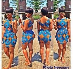 Cute African print dress.  Via African Girls Rock