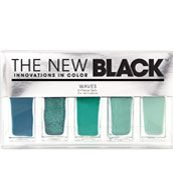 #SephoraColorWash  the new black - waves ombre nail set  neat idea for nails, paint each finger a different shade of teal.  this set makes it fool proof to try