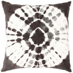 grey and ivory velvet tie dye pillow