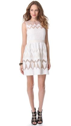 Saloni Organza Sleeveless Dress