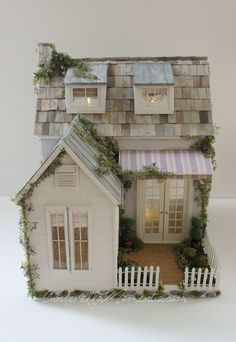 Cinderella Moments: Dollhouse Custom Construction Part 4 - Featuring Lilac Cottage Putz Houses, Fairy Houses, Doll Houses, Miniature Furniture, Dollhouse Furniture, Barbie Furniture, Miniature Houses, Miniature Dolls, Diy Doll Miniatures