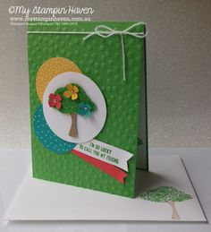 Sprinkles Of Life, Tree Builder punch, Cherry On Top DSP paper stack friendship card #MyStampinHaven #StampinUp