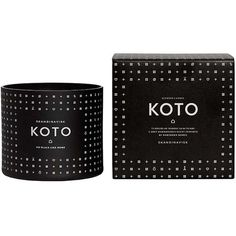 Skandinavisk Koto Scented Candle - Large (€34) ❤ liked on Polyvore featuring home, home decor, candles & candleholders, black, vanilla scented candles, scented candles, fragrance candles, black home decor and vanilla candle