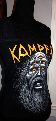 Kampfar heavy metal viking pagan black metal band shirt ladies DIY tank top   $27