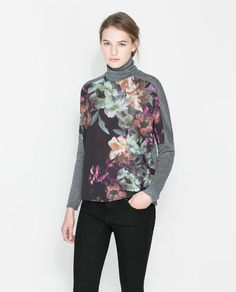 Image 1 of PRINTED SWEATER from Zara