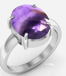 Katela cts or ratti Amethyst Ring Stone: Natural Amethyst / Katela Carat: carats Ratti: Shape: Oval Color: Amethyst Certified Stone Ring Metal: 925 Sterling Silver Metal Color: White Gemstone Jewelry, Silver Plate, Amethyst, Gemstones, Sterling Silver, Metal, Color, Silverware Tray, Gems