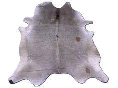 G-443 HUGE Grey Cowhide Rug Solid Grey Gray cow by Cowhidesusa