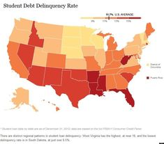 13 States Where Student Loan Debt Is Crushing College Grads