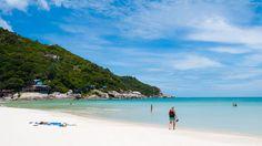 It looks so prestine before the Full Moon party hits - Haad Rin Beach, Ko Phangan Thailand