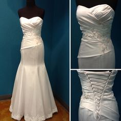 Alfred Angelo trumpet wedding gown
