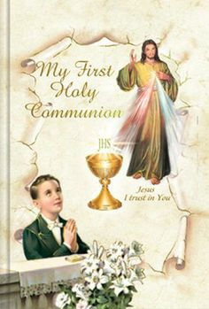 Boy's First Holy Communion Missal Prayer Book - Divine Mercy - Cromo NB