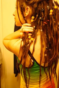dreads with beads