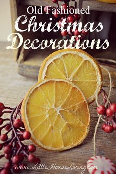 Cute and rustic old fashioned Christmas Decorations for your Christmas Tree. Great, simple, and frugal ideas!