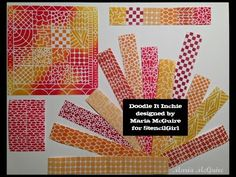 Perfect stencil for Gelli printing and doodling!  Doodle It Inchie Stencil | Maria McGuire | StencilGirl Products