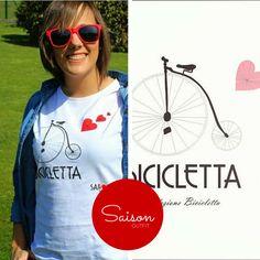 """Outfit Saison de manos de @bilbaopasarela, con nuestra camisetas """"Bicicletta"""", Guapísima !!! www.facebook.com/Saison.camisetas"""