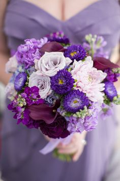 A Swanky Purple & Lavender Virginia Roof Top Wedding shot by Mathy Shoot People via Fab You Bliss