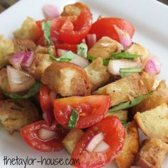 Bruschetta Salad with fresh tomato and basil is the perfect summer side salad!