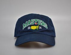 The Masters Golf Hat Cap 2014 Augusta National Golf PGA Blue Embroidered  Watson  AmericanNeedle   4f6e6017c8f2