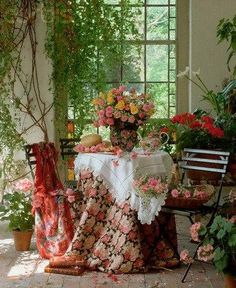 tea party, gorgeous. The more flowers the better!
