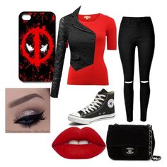 """""""Untitled #1311"""" by rachaelsixx ❤ liked on Polyvore featuring Michael Kors, Converse, Chanel, Lime Crime, women's clothing, women, female, woman, misses and juniors"""