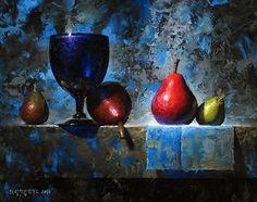 Starkrimson On Ledge by David Cheifetz Oil ~ 8 x 10