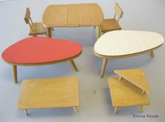 LOT VINTAGE STROMBECKER GINNY DOLL HOUSE FURNITURE MID-CENTURY MODERN FORMICA | eBay