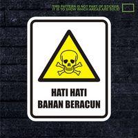 WSKPC036 Sticker Safety Sign Warning Sign Hati Hat