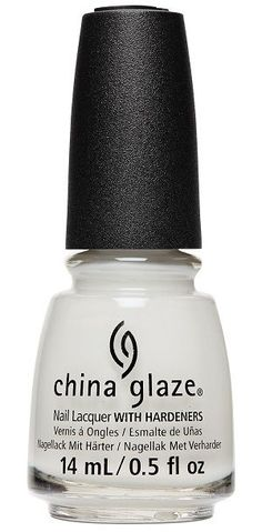 China Glaze Nail Polish, Off-White, On Point 1715 Black And White Nail Art, White Nails, Nail Hardener, Nail Pops, China Clay, China Glaze Nail Polish, Pearl Nails, Colorful Nail Designs, Nail Treatment