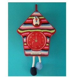 Crochet clock Instead of crocheting the whole clock, embellish an old one! Fab