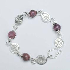 Sterling Silver Rhodondite Bracelet $68.00