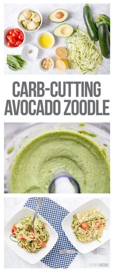 Carb-cutting Avocado Zoodles- For a low-calorie and low-carb weight loss-friendly dinner, you MUST make this recipe!