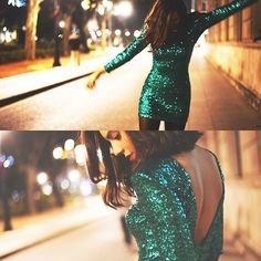 Emerald Green Party Dress #NYE