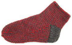 Tunisian crochet socks