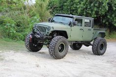"Own the Road in This Badass Jeep JK Crew Bruiser (15 Photos) When I see this incredible conversion of a Jeep JK by [sc name=""Link"" url=""http://bruiserconversions.com/jk-crew/jeep-wrangler-truck-conversion/"" site..."