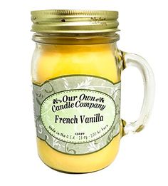 French Vanilla Scented 13 Ounce Mason Jar Candle By Our Own Candle Company >>> LEARN MORE @ http://www.laminatepanel.com/store/french-vanilla-scented-13-ounce-mason-jar-candle-by-our-own-candle-company/?a=0000