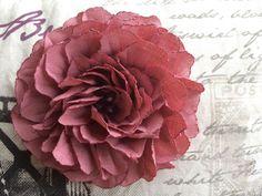 Fabric flower 10 $USD Instagram - Artfabricflower YouTube  channel  - Art fabric flowers by Aleymy