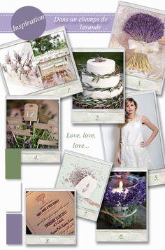 moodboard lavender wedding