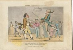 """""""Takes Lesson in Dancing"""" from 1821, by John Careless"""