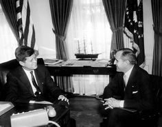 Meeting with the Ambassador of Tunisia. President John F. Kennedy; Ambassador of Tunisia, Habib Bourguiba, Jr. Oval Office, White House, Was...