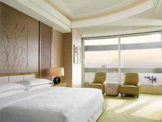 Each guest room, such as this Studio Suite, Sheraton Huzhou Hot Spring Resort