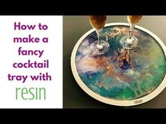 Fancy Cocktail Tray DIY with resin - YouTube