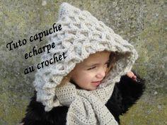 TUTO ECHARPE CAPUCHE CROCODILE AU CROCHET Hooded Crocodile Crochet Hook Scarf - YouTube