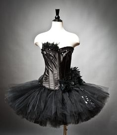 Custom Size Black Swan Ballet costume Burlesque tutu by Glamtastik The Black Swan, White Swan, Ballet Costumes, Dance Costumes, Halloween Costumes, Tutu Ballet, Black Swan Costume, Punk Fashion, Womens Fashion